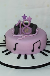 18th birthday music cake