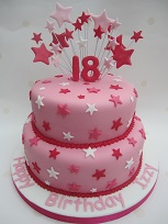 18th birthday star cake