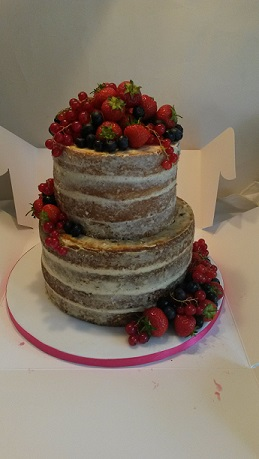 two tier naked cake