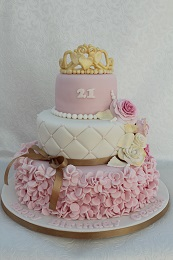 21st birthday princess cake