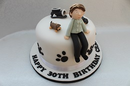30th birthday dog and golf cake