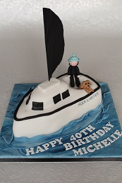 40th birthday boat cake