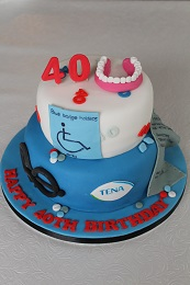 40th birthday humorous cake