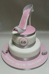 40th birthday shoe cake