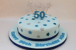 50th birthday star cake