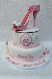 50th birthday stiletto cake