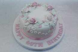 60th birthday cake with roses