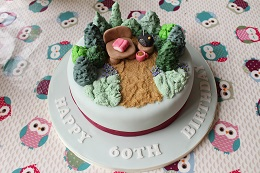 60th birthday garden cake