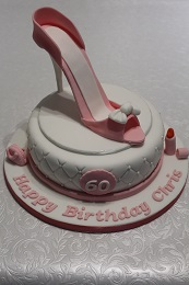 60th birthday shoe cake