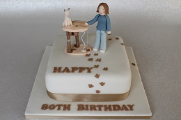 80th birthday cat cake
