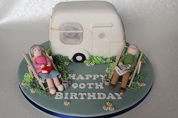 90th birthday caravan cake