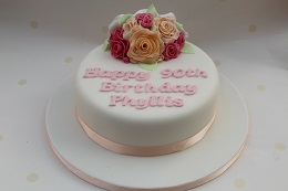 90th birthday flower cake