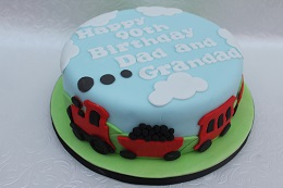 90th birthday train cake
