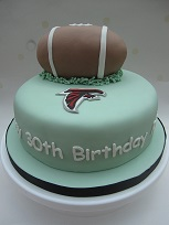 atlanta falcons cake