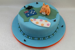 australia themed birthday cake
