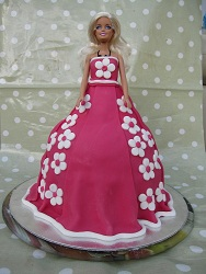 novelty barbie birthday cake