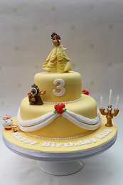 belle beauty and the beast cake