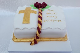 bible design christmas cake