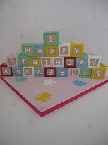 building blocks cake