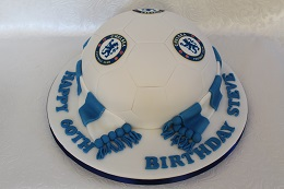 chelsea football birthday cake