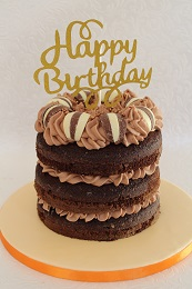 chocolate orange naked cake
