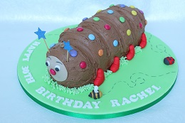 colin the caterpillar birthday cake
