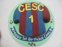 crystal palace football shirt cake