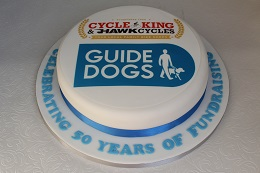 cycle king guide dogs fundraising cake