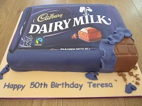 dairy milk birthday cake