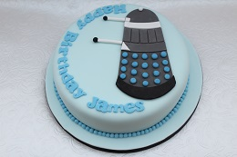 doctor who dalek birthday cake