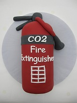fire extinguisher cake