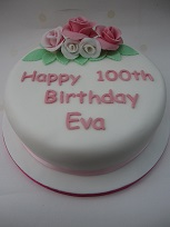 flower 100th birthday cake