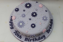 flower 70th birthday cake