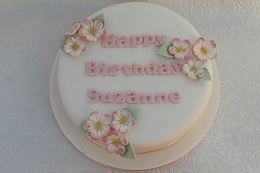 flower decoration birthday cake