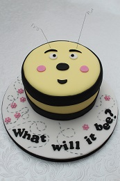 gender reveal bee cake