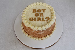 gender reveal sprinkle cake
