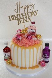 gin themed birthday cake