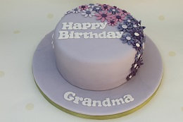 grandma flower birthday cake