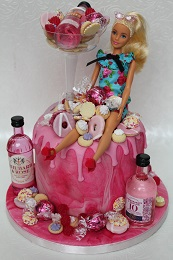 grown up barbie drip cake