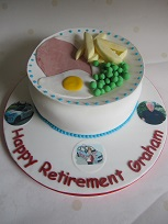 ham egg and chips cake