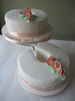 horseshoe two tier cake