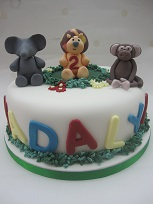 jungle animals cake