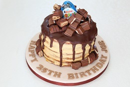 kinder chocolate drip cake