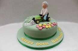 lawnmower 60th birthday cake
