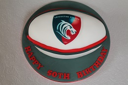 leicester tigers rugby ball birthday cake