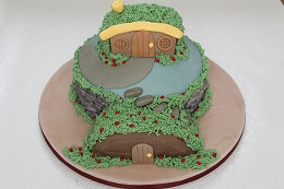 lord of the rings hobbit house cake