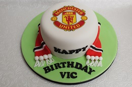 man utd birthday cake