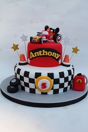 mickey mouse car birthday cake