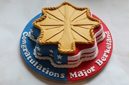 military major promotion cake