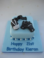 motorbike theme birthday cake
